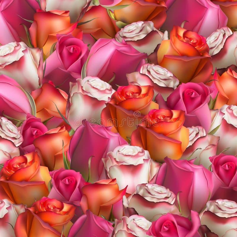 Abstracte Achtergrond van Bloemen Eps 10 royalty-vrije illustratie