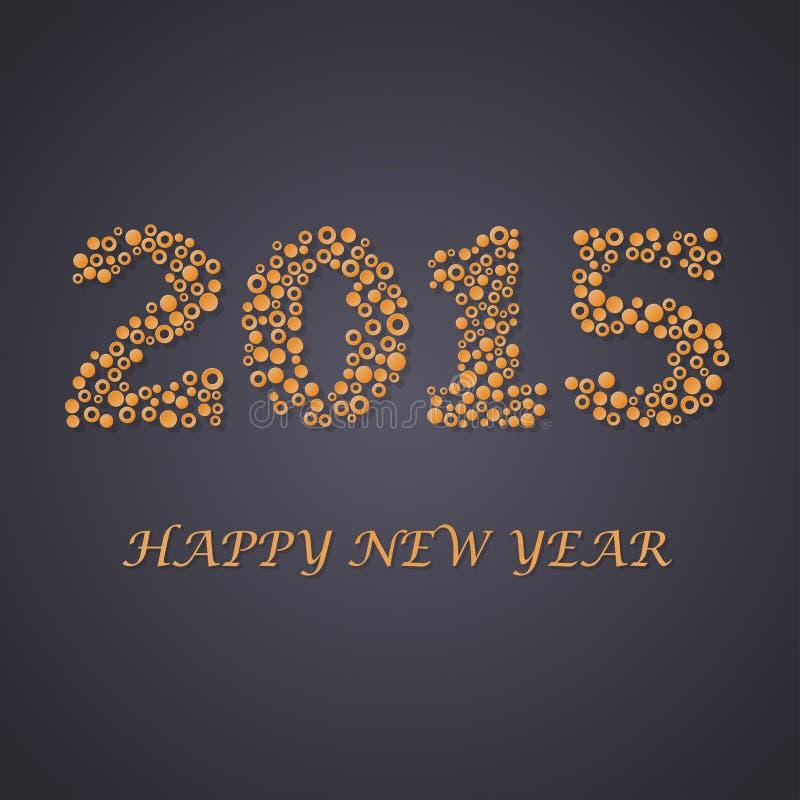Abstracte achtergrond van cirkels Nieuw jaar 2015 royalty-vrije illustratie