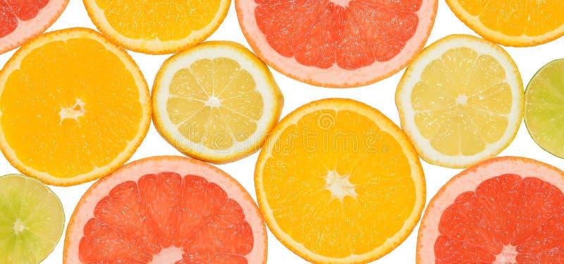 Abstracte achtergrond van citrusvruchtenplakken Close-up De fotografie van de studio royalty-vrije stock foto