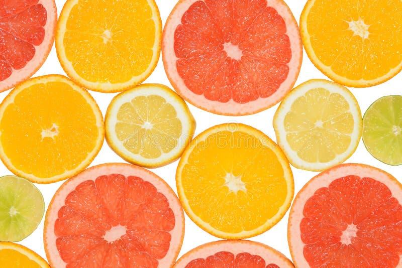Abstracte achtergrond van citrusvruchtenplakken Close-up De fotografie van de studio stock foto's