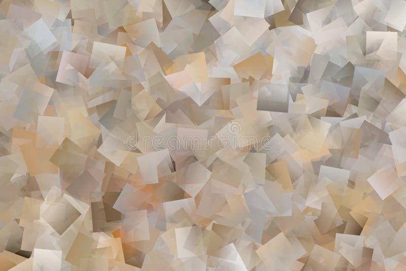 Abstracte achtergrond van de bruine rechthoeken vector illustratie