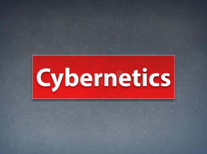 Abstracte Achtergrond van de cybernetica de Rode Banner royalty-vrije illustratie