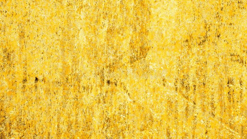 Abstracte achtergrond van de GGrunge de bruine en gouden textuur stock fotografie