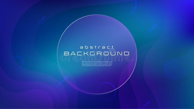 Abstracte achtergrond van de gradiënt de vloeibare blauwe kleur Vloeibaar vormen futuristisch concept Creatief motie geometrisch  vector illustratie
