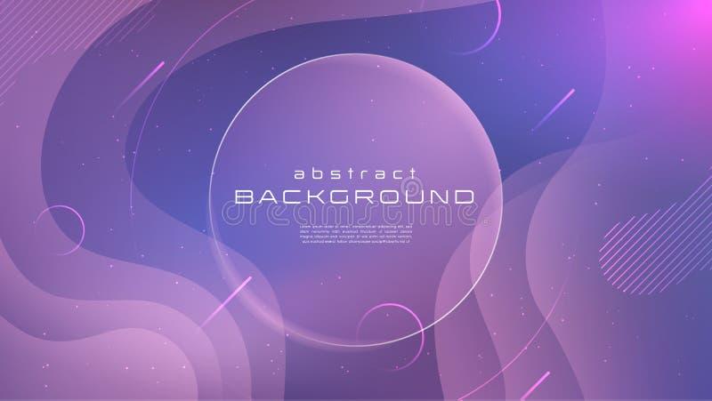 Abstracte achtergrond van de gradiënt de vloeibare blauwe roze zachte kleur Vloeibaar vormen futuristisch concept Creatieve geome stock illustratie