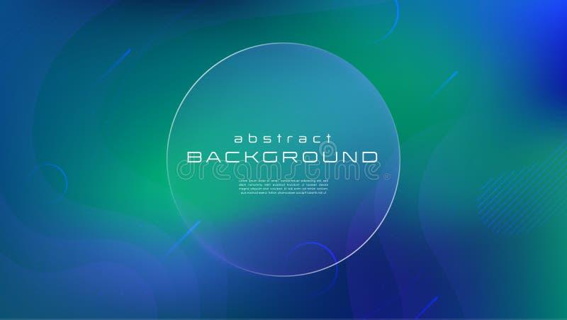 Abstracte achtergrond van de gradiënt de vloeibare blauwgroene kleur Vloeibaar vormen futuristisch concept Creatieve geometrische royalty-vrije illustratie