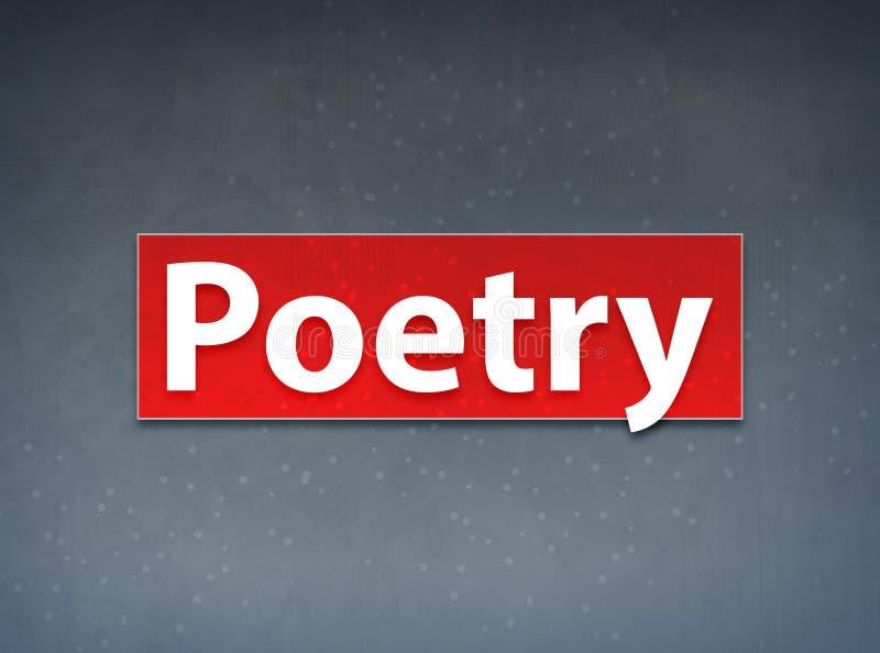Abstracte Achtergrond van de poëzie de Rode Banner vector illustratie