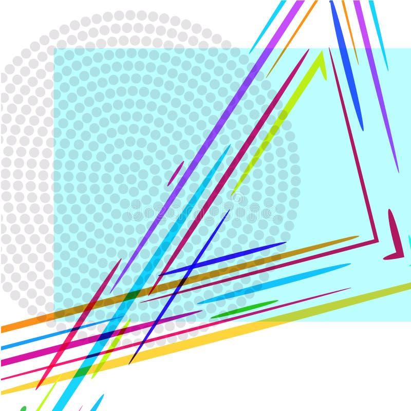 Abstracte achtergrond van driehoek, rechthoeken en punten vector illustratie
