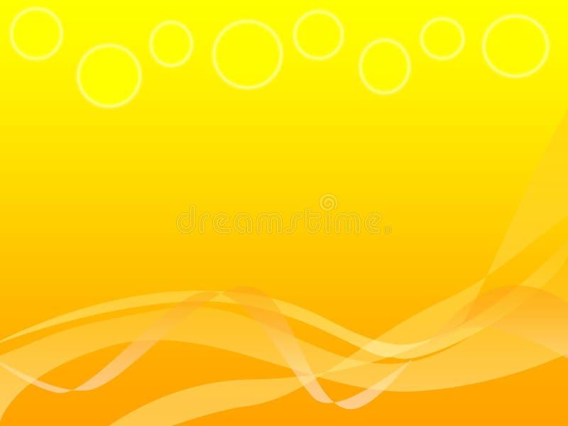 Abstracte achtergrond van geeloranje vector illustratie
