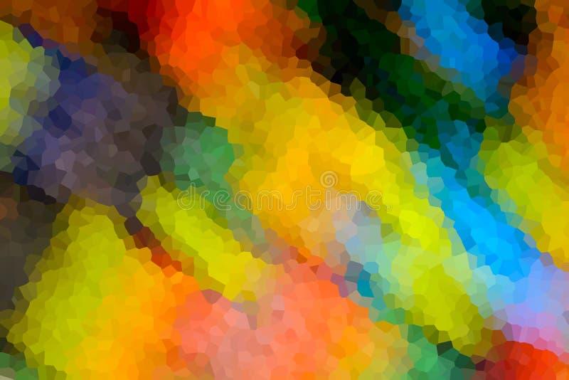 Abstracte achtergrond van gekristalliseerd stock illustratie