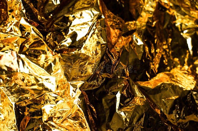 Abstracte achtergrond van gouden kleur van document royalty-vrije stock fotografie