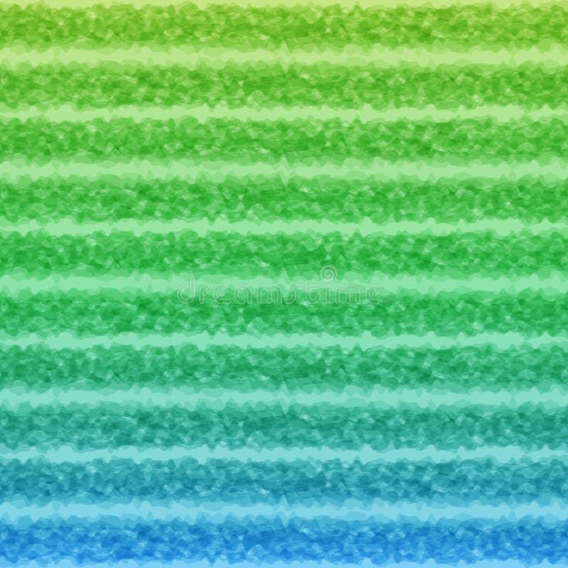 Abstracte Achtergrond van Horizontale Vlotte Lijnen van Celadon stock illustratie