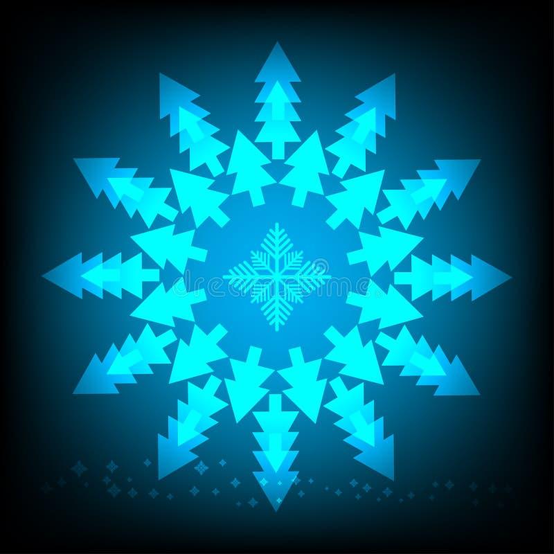 Abstracte achtergrond van Kerstboom royalty-vrije illustratie