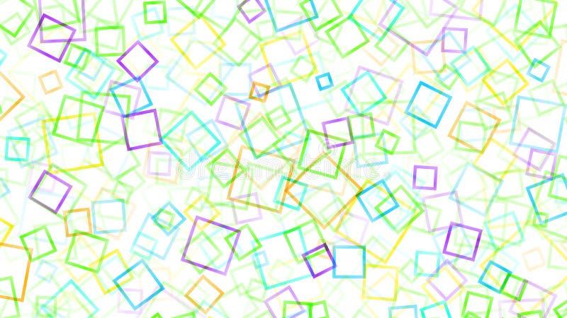 Abstracte achtergrond van kleine vierkanten stock illustratie