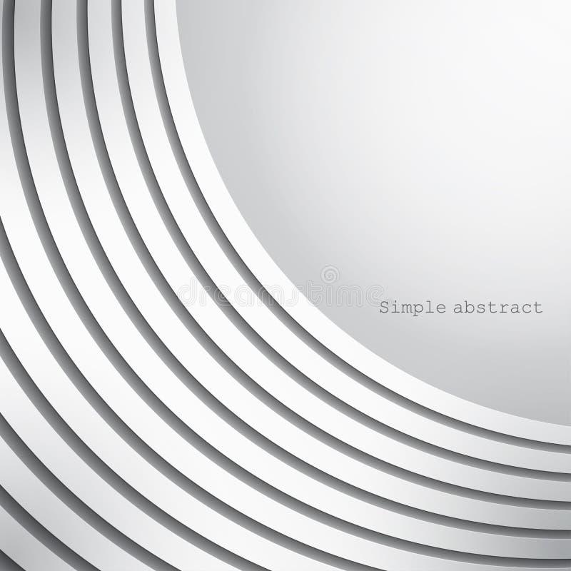 Abstracte achtergrond van lagen gebogen document lijnen over lichte achtergrond vector illustratie