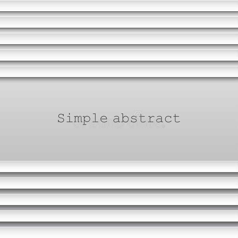 Abstracte achtergrond van lagen horizontale document lijnen over lichte achtergrond stock illustratie
