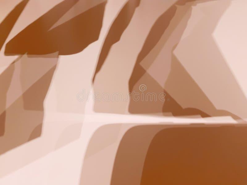 Abstracte Achtergrond van Lichtbruine Gevormde Schaduwen vector illustratie