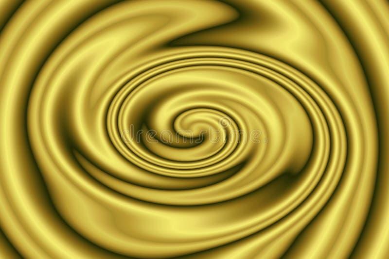 Abstracte achtergrond van metaal vloeibare gouden textuur in wervelingen vector illustratie