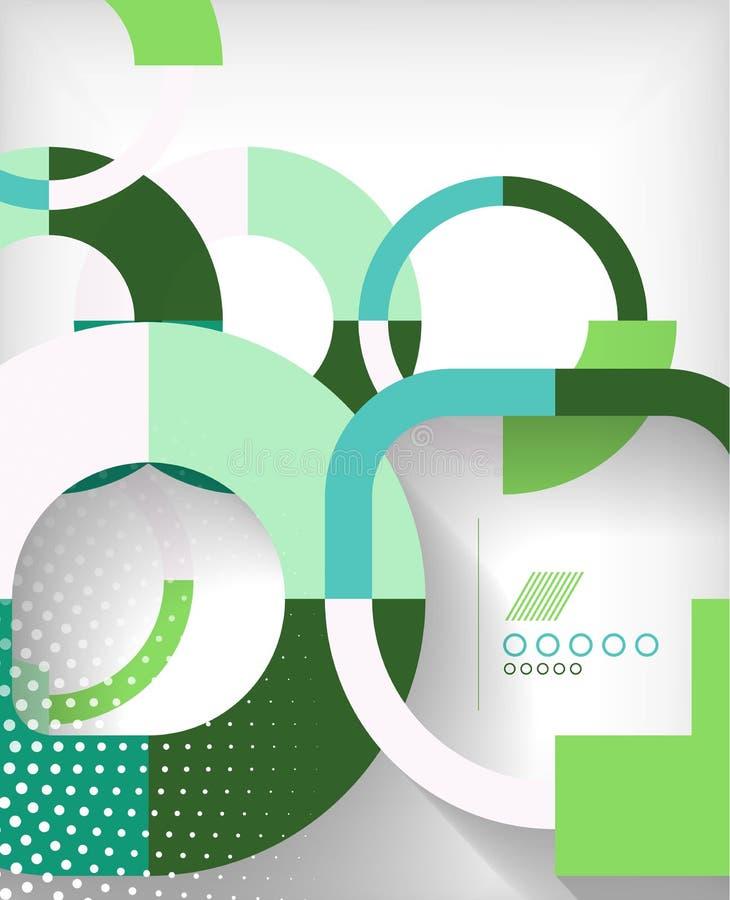 Abstracte achtergrond van ringen de geometrische vormen stock illustratie