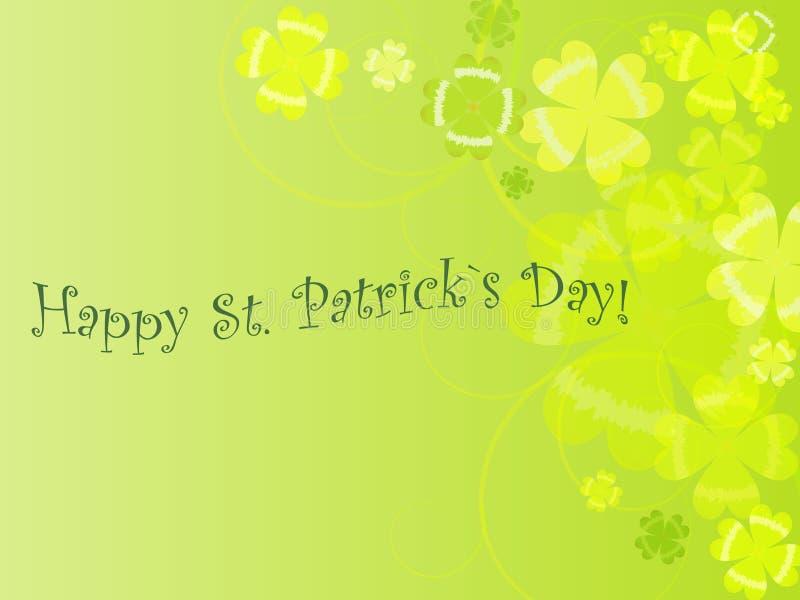 Abstracte achtergrond van st. Patrick `s dag stock illustratie