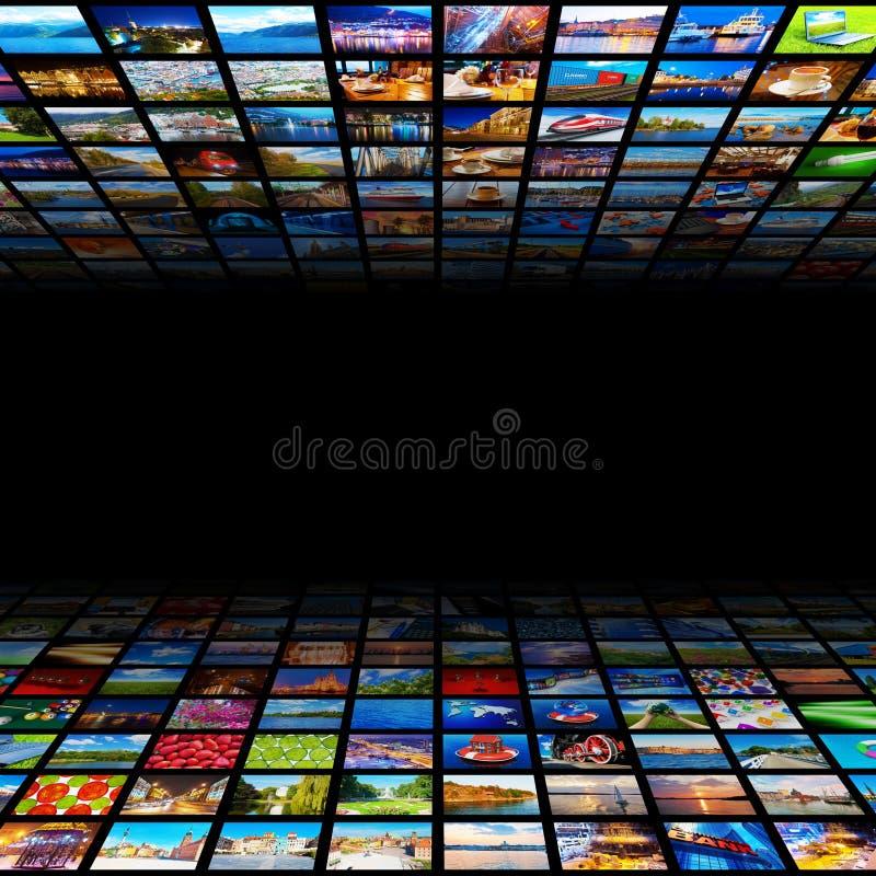 Abstracte achtergrond van verschillende media vector illustratie