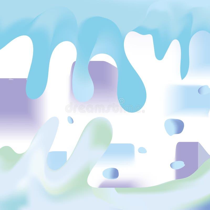 Abstracte achtergrond van vloeibare druppeltjes en plonsen, verpersoonlijkende emotionele vernietiging en onrust stock illustratie