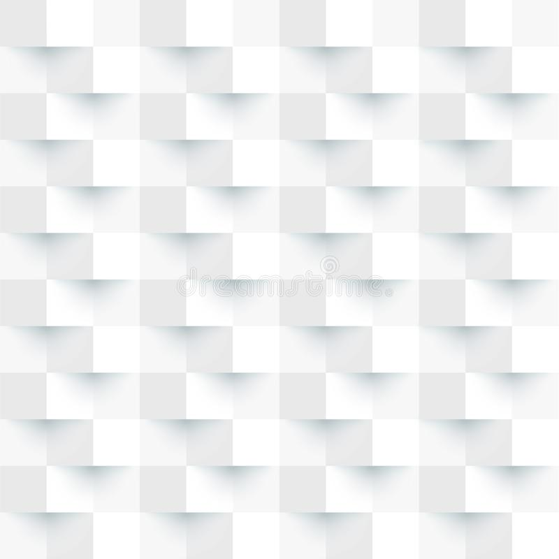 Abstracte achtergrond van wit en grijs vierkant stock afbeelding