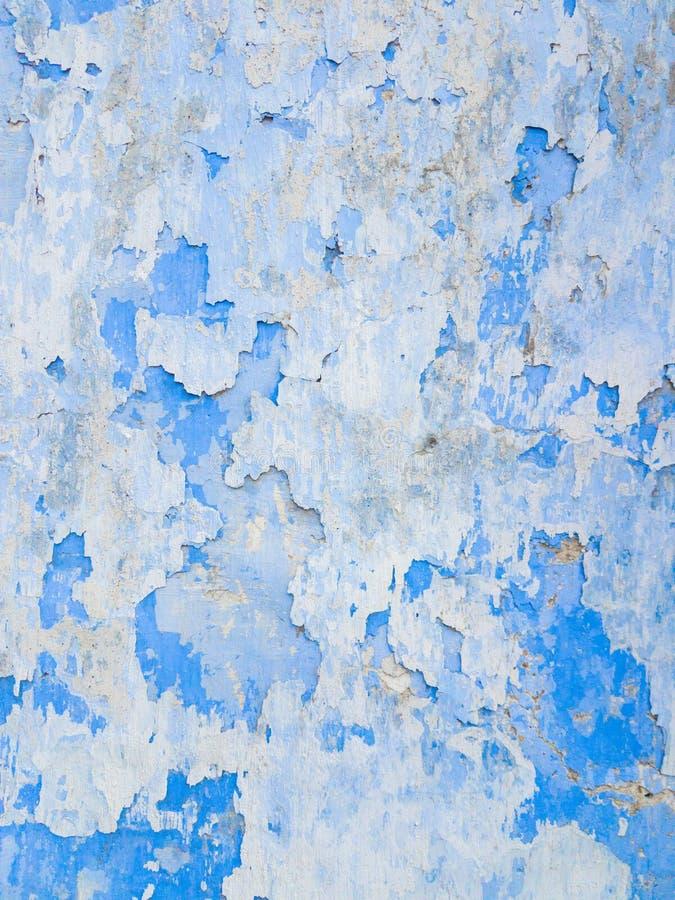 Abstracte achtergrond van witte en blauwe exfoliating verven royalty-vrije stock foto