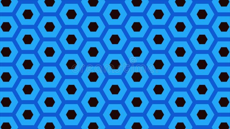 Abstracte achtergrond van zelfde kleuren hexagon en verschillende omringende ringen stock illustratie