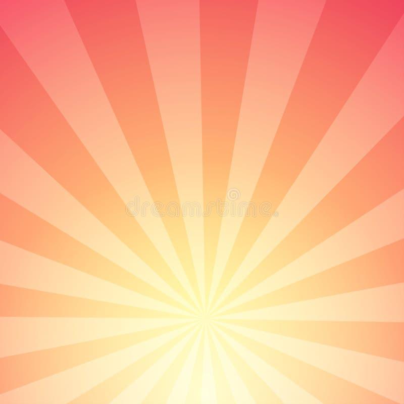 Abstracte achtergrond van Zonlicht met Strepen - gloei met radiale stralen van ster stock illustratie