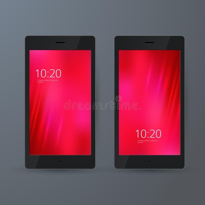Abstracte achtergrond voor het scherm mobiele phone02 stock illustratie