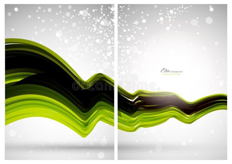 Abstracte achtergrond, voorzijde en rug vector illustratie