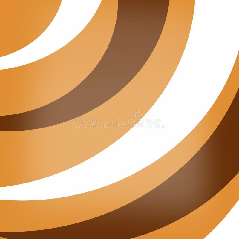 Abstracte achtergrond in warme tonen van mosterd stock illustratie