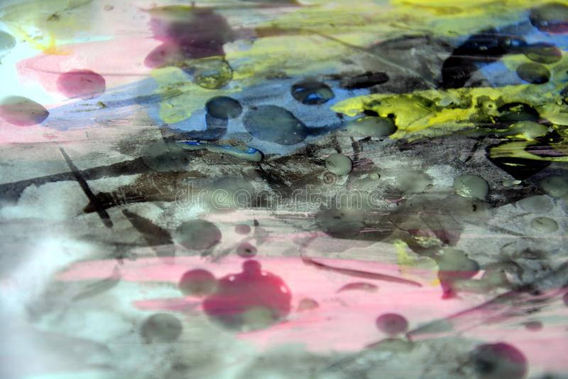 Abstracte achtergrond, was, gebrand document, verf, waterverf stock afbeelding