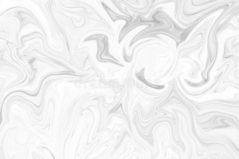 Abstracte achtergrond, waterverfwas, de witte marmeren natuurlijke achtergrond van de patroontextuur Kunst van het de muurontwerp stock illustratie