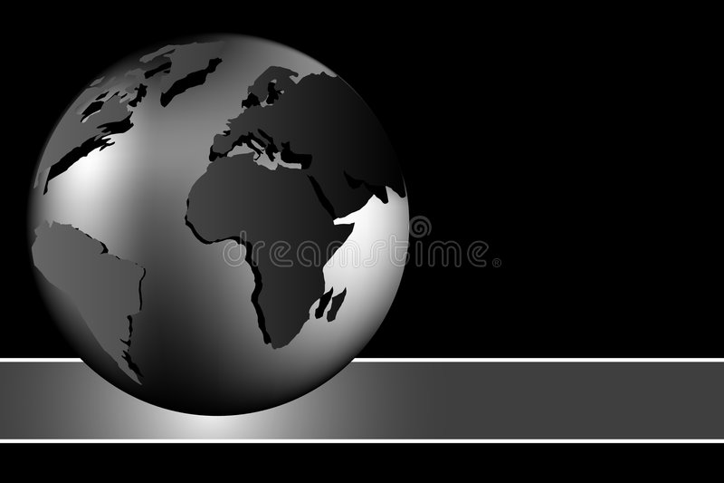 Abstracte achtergrond - wereldbol royalty-vrije illustratie