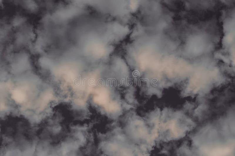Abstracte achtergrond, wolken en rook op een donkergrijze achtergrond royalty-vrije stock foto's