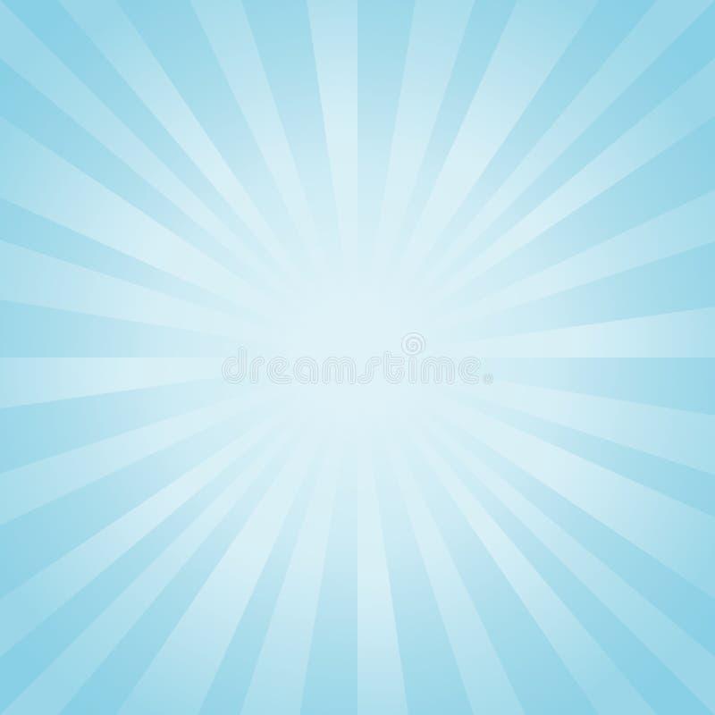 abstracte achtergrond Zachte lichtblauwe stralenachtergrond Vectoreps 10 cmyk royalty-vrije illustratie