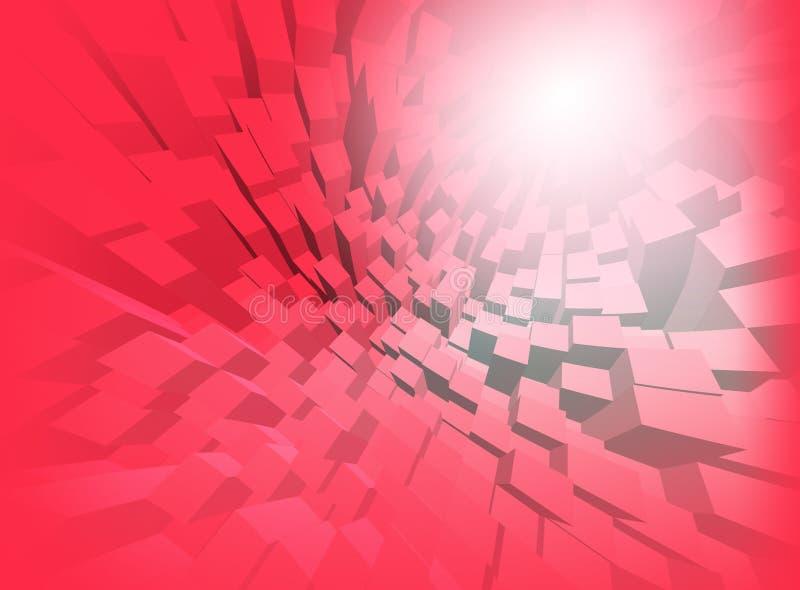 Abstracte achtergrondcomputergrafiek voor ontwerp royalty-vrije illustratie