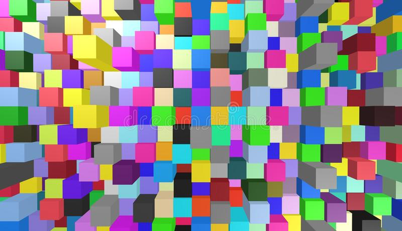 Abstracte achtergronden, kubussen, illustratie vector illustratie
