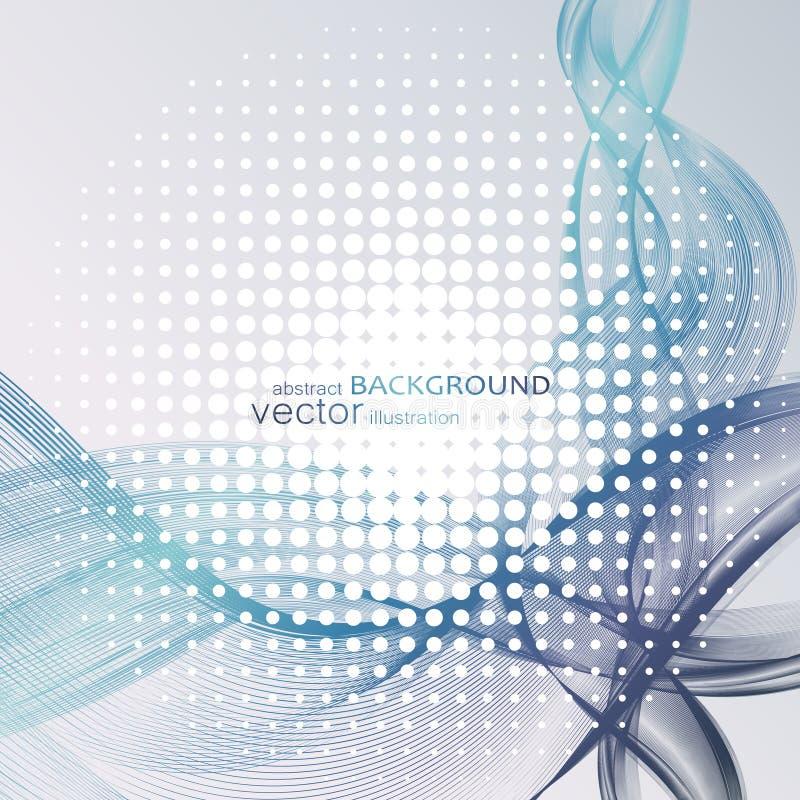 Abstracte achtergronden met kleurrijke golvende lijnen Elegant golfontwerp Vectortechnologie stock foto's