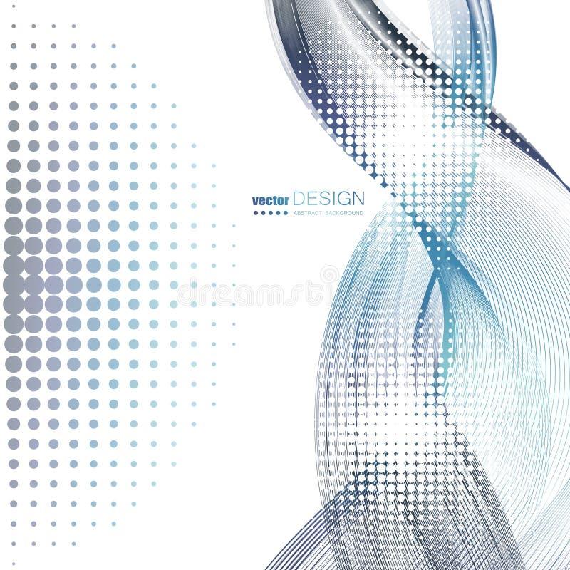 Abstracte achtergronden met kleurrijke golvende lijnen Elegant golfontwerp Vectortechnologie stock illustratie