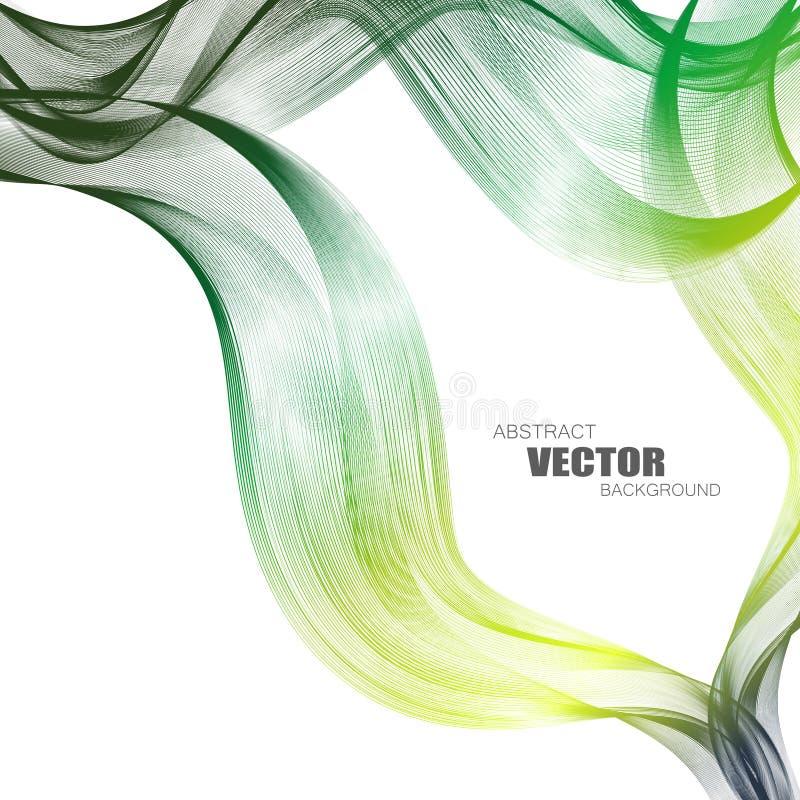 Abstracte achtergronden met kleurrijke golvende lijnen Elegant golfontwerp Vectortechnologie stock afbeelding
