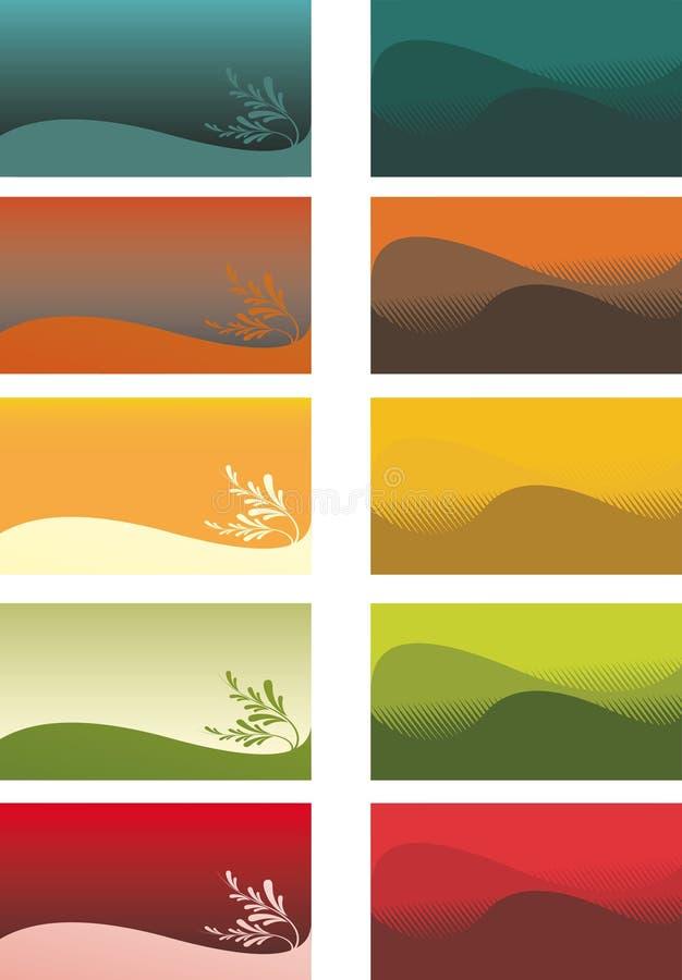 Abstracte achtergronden op kaarten vector illustratie