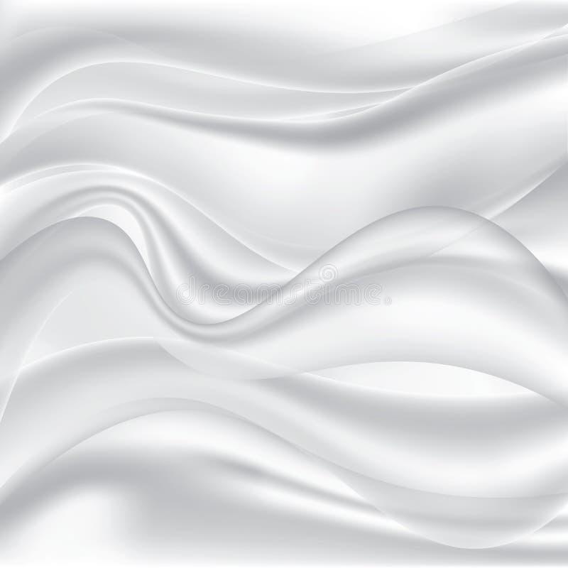 Abstracte achtergrondluxedoek of vloeibare golf of golvende vouwen van materieel of het luxueuze fluweel van het de textuursatijn vector illustratie