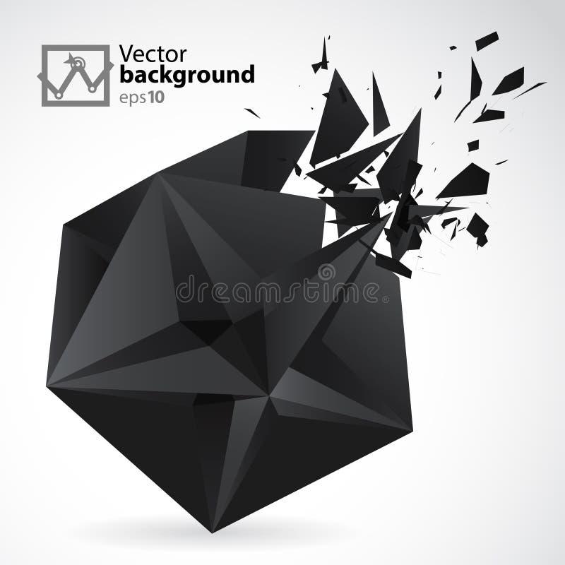Abstracte Achtergrondsterexposion vector illustratie