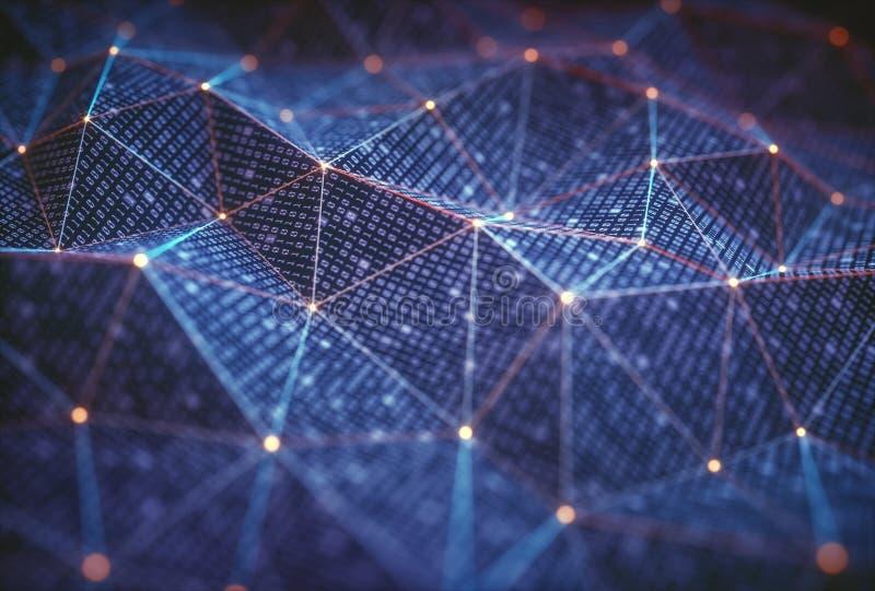 Abstracte Achtergrondtechnologieverbindingen stock illustratie
