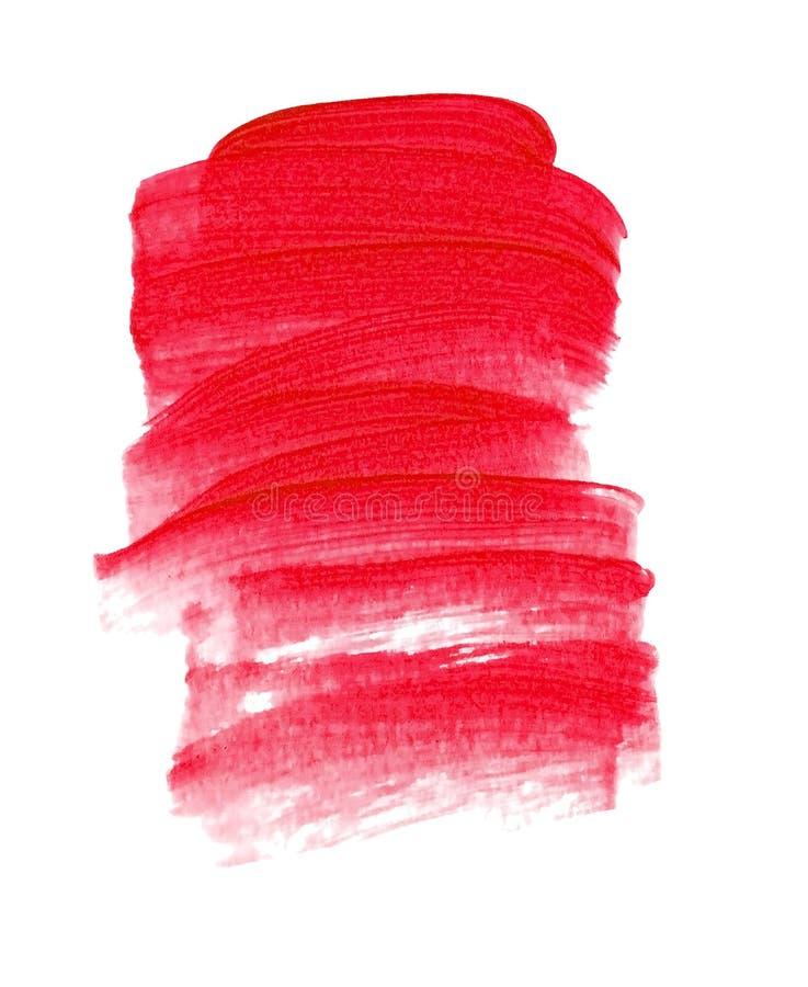 Abstracte acryl rode achtergrond royalty-vrije stock afbeeldingen