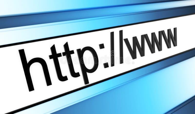 Abstracte adreslijn www vector illustratie