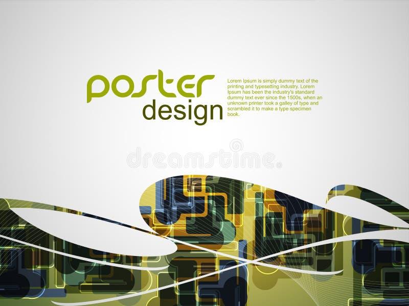 Abstracte afficheachtergrond met kleurrijk ontwerp. royalty-vrije illustratie